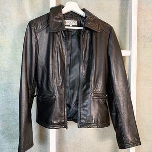 Pelle Black Leather Jacket Like New!